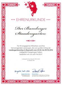 Urkunde LGS Bayreuthmailer